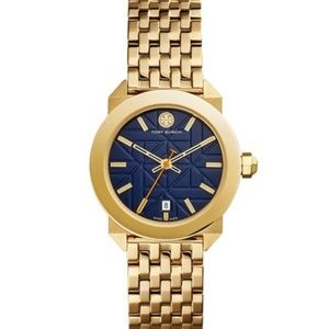 Tory Burch Whitney Gold Tone Bracelet Watch